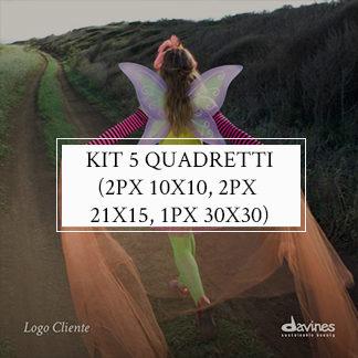 Kit 5 quadretti